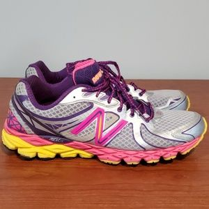 Bright New Balance sneakers